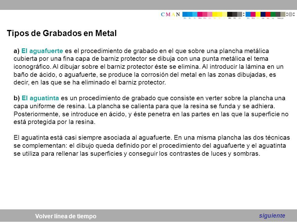Tipos de Grabados en Metal