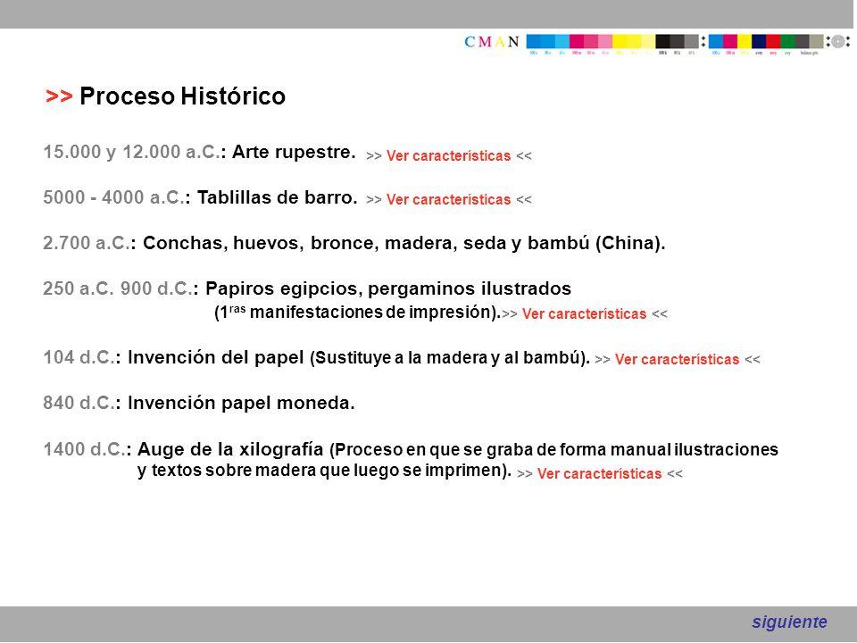 >> Proceso Histórico