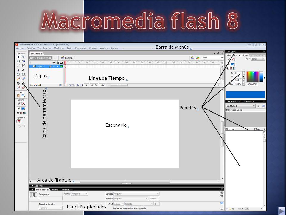 macromedia flash 8 barra de men s capas l nea de tiempo ppt rh slideplayer es Macromedia Flash 2 Macromedia Flash 8 Stickman