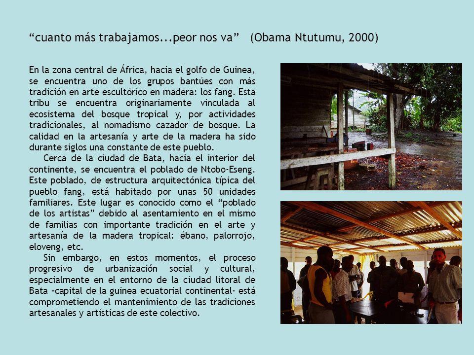 cuanto más trabajamos...peor nos va (Obama Ntutumu, 2000)