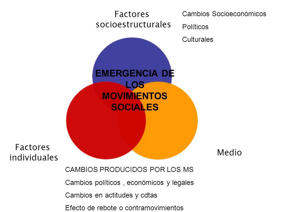 EMERGENCIA DE LOS MOVIMIENTOS SOCIALES