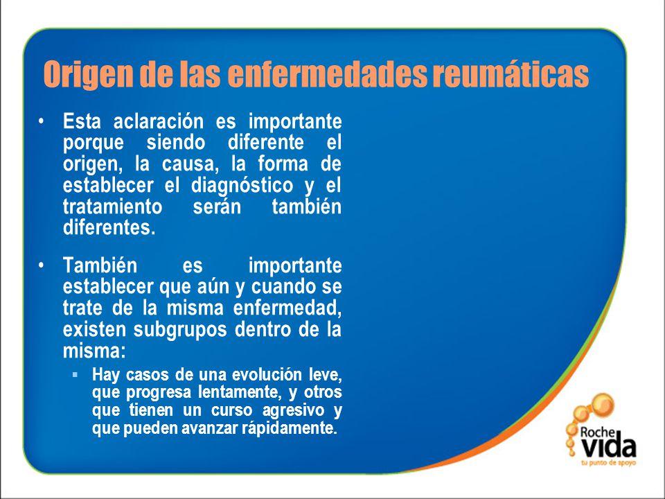 Origen de las enfermedades reumáticas