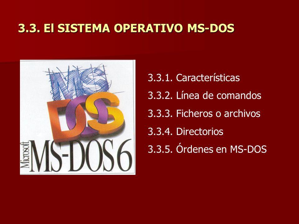3.3. El SISTEMA OPERATIVO MS-DOS