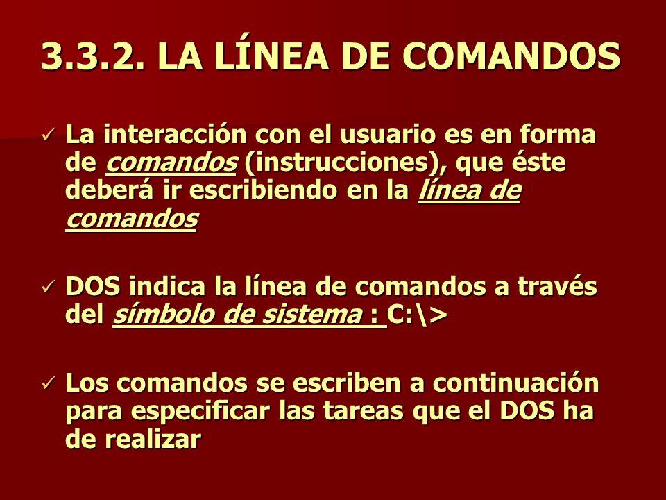 3.3.2. LA LÍNEA DE COMANDOS