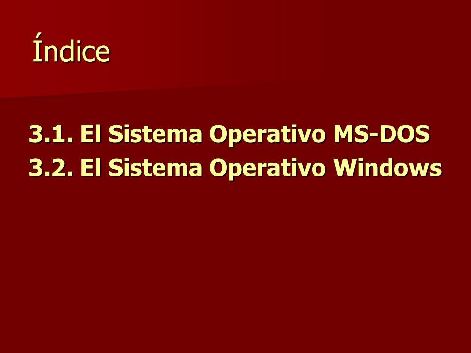 Índice 3.1. El Sistema Operativo MS-DOS