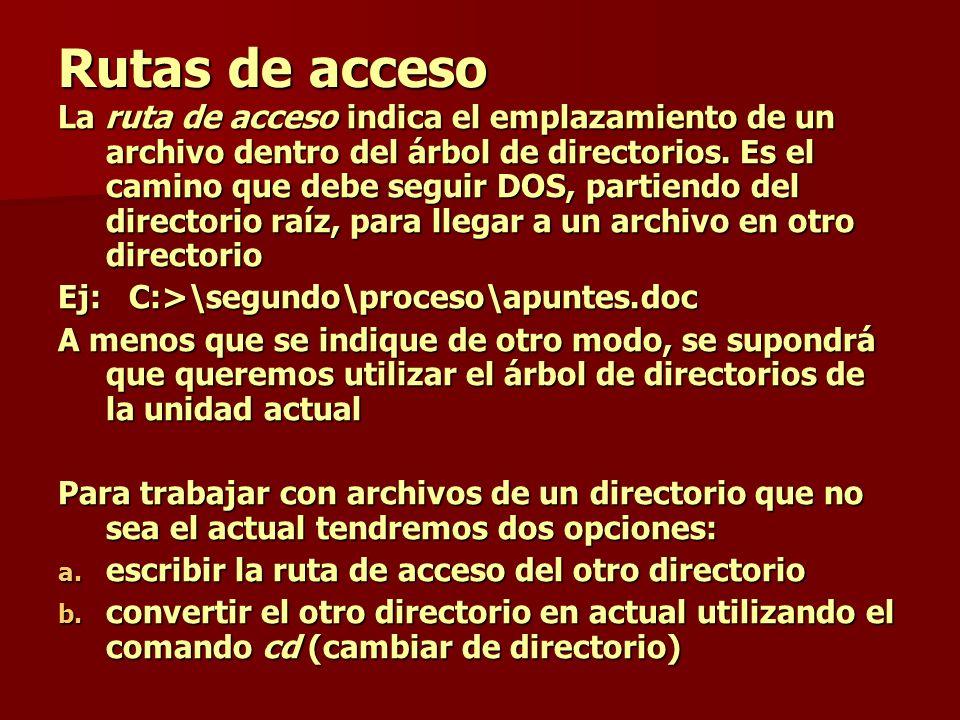 Rutas de acceso