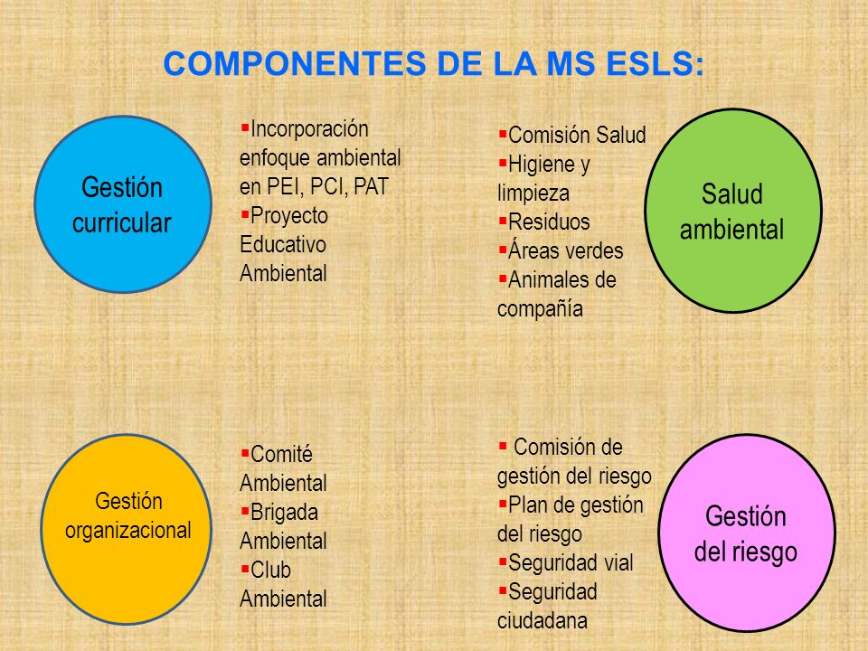 COMPONENTES DE LA MS ESLS: