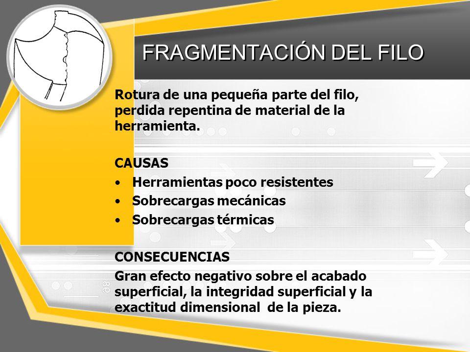 FRAGMENTACIÓN DEL FILO