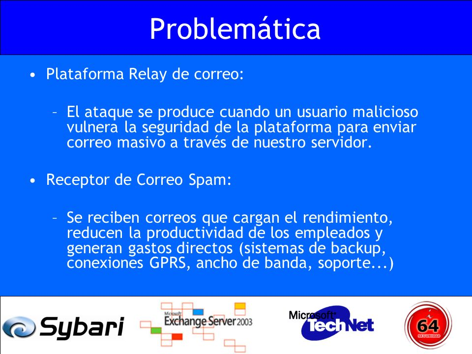 Problemática Plataforma Relay de correo: