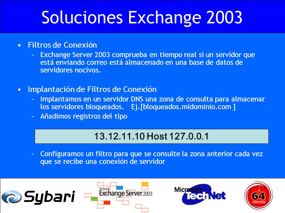 Soluciones Exchange 2003 13.12.11.10 Host 127.0.0.1