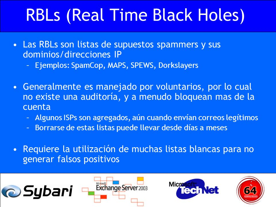 RBLs (Real Time Black Holes)