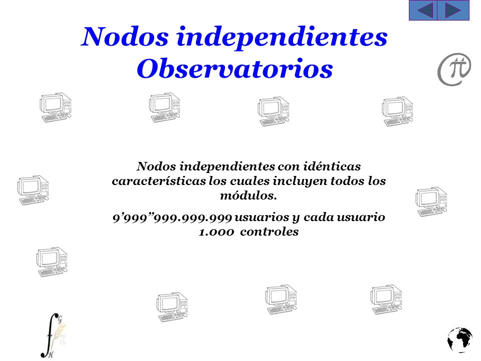 Nodos independientes Observatorios