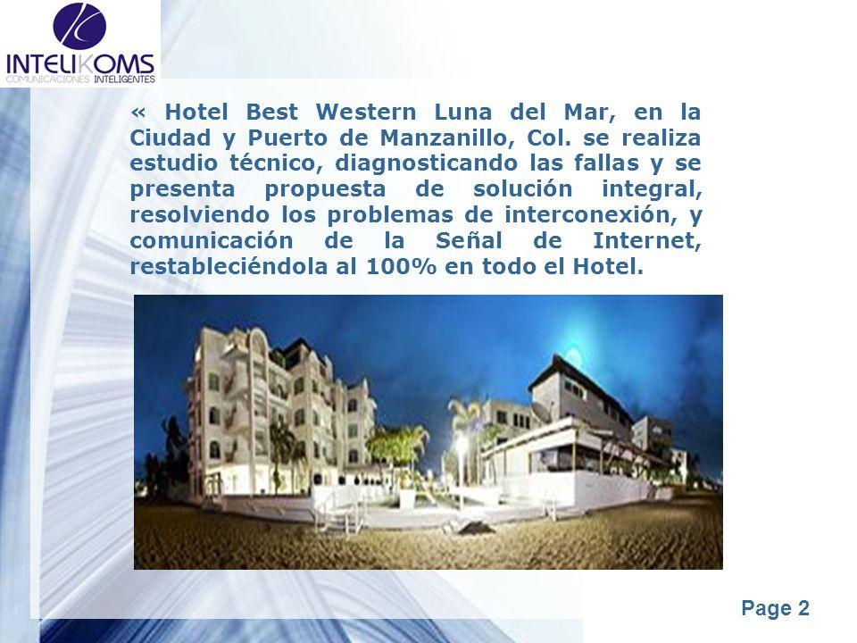 « Hotel Best Western Luna del Mar, en la Ciudad y Puerto de Manzanillo, Col.