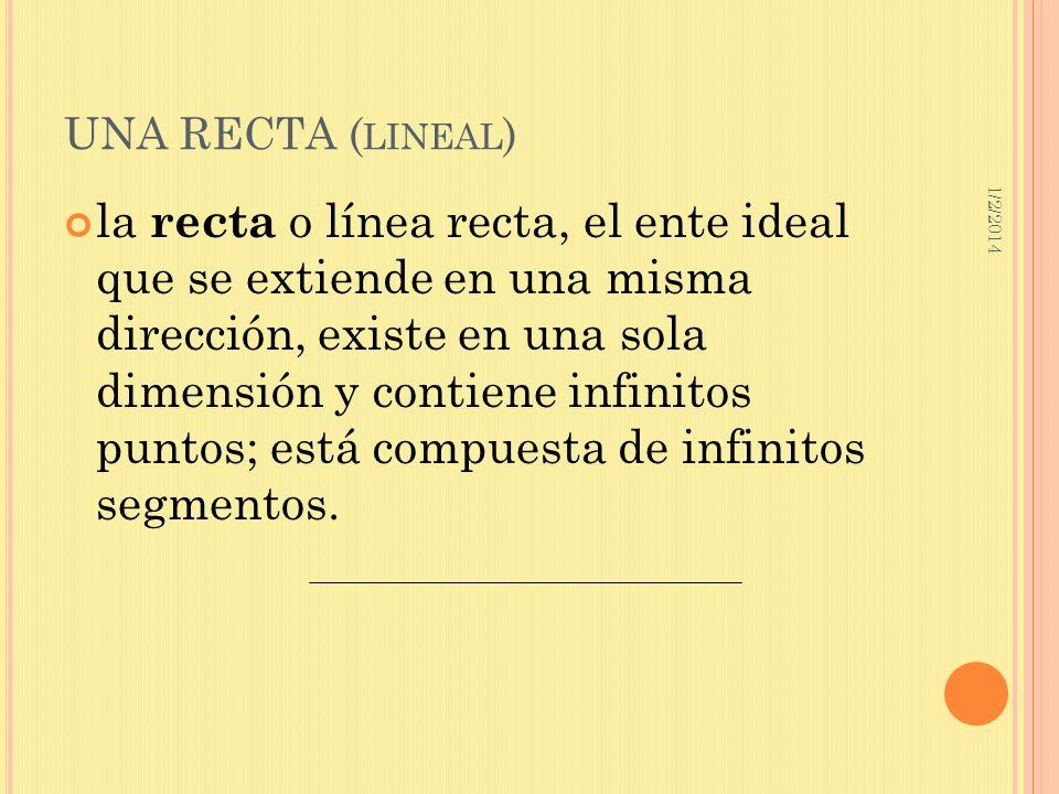 UNA RECTA (lineal) 3/23/2017.