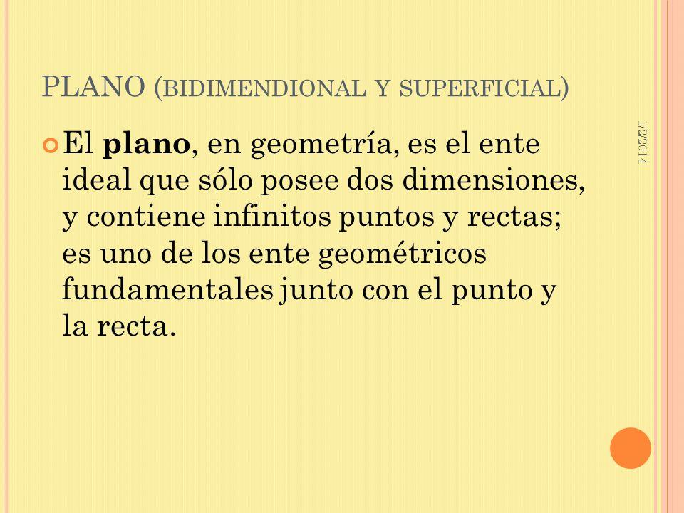 PLANO (bidimendional y superficial)