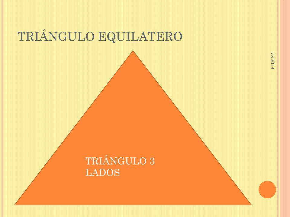 TRIÁNGULO EQUILATERO 3/23/2017 TRIÁNGULO 3 LADOS