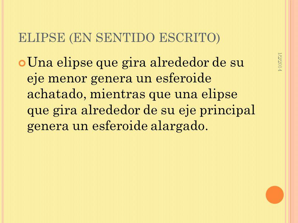 ELIPSE (EN SENTIDO ESCRITO)