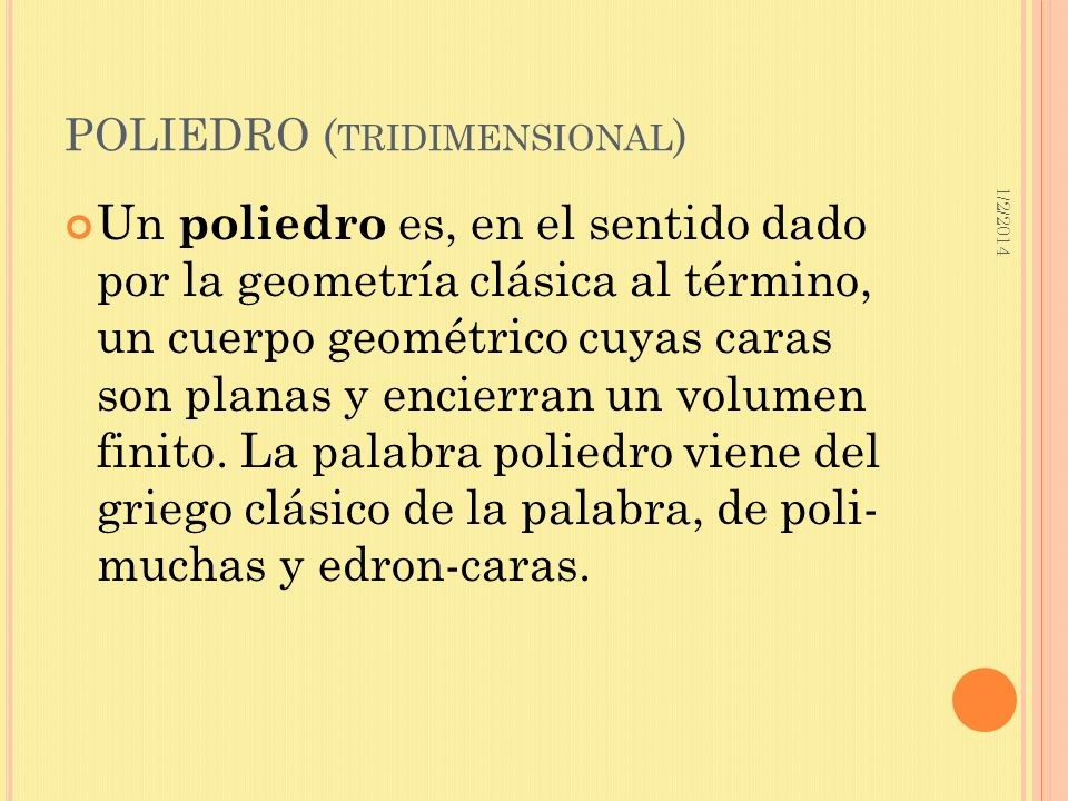 POLIEDRO (tridimensional)