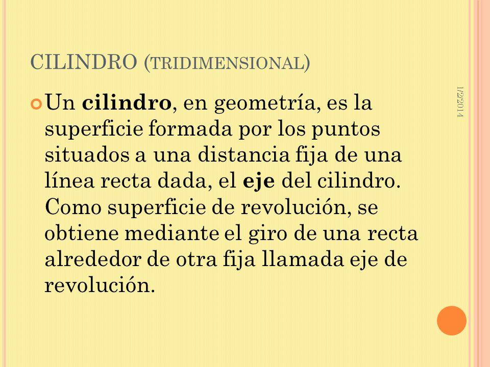 CILINDRO (tridimensional)
