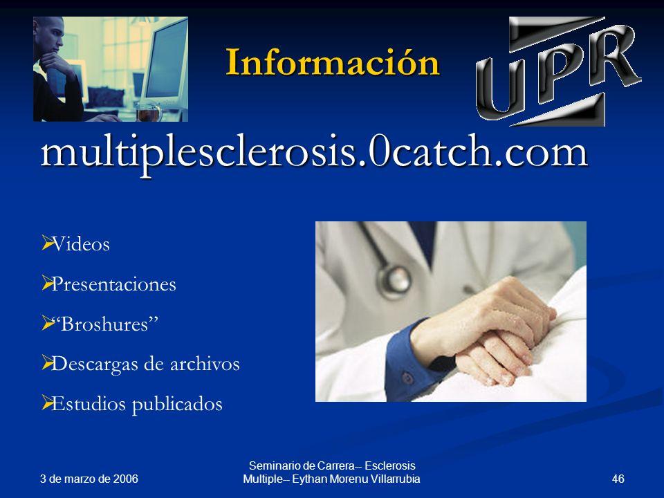Seminario de Carrera-- Esclerosis Multiple-- Eythan Morenu Villarrubia