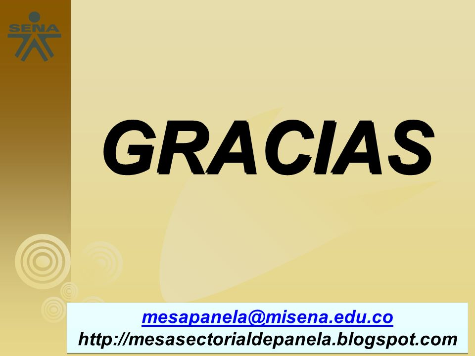 GRACIAS mesapanela@misena.edu.co