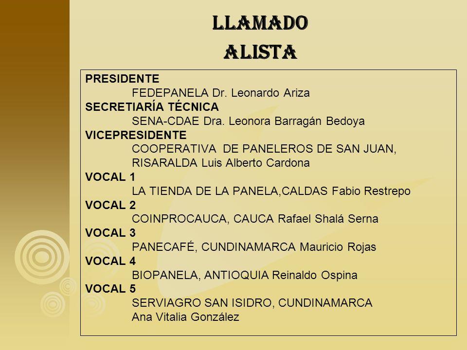 Llamado alista PRESIDENTE FEDEPANELA Dr. Leonardo Ariza