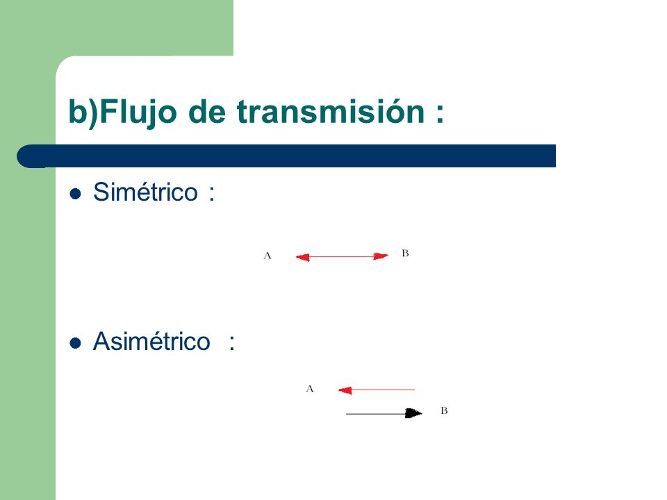 b)Flujo de transmisión :