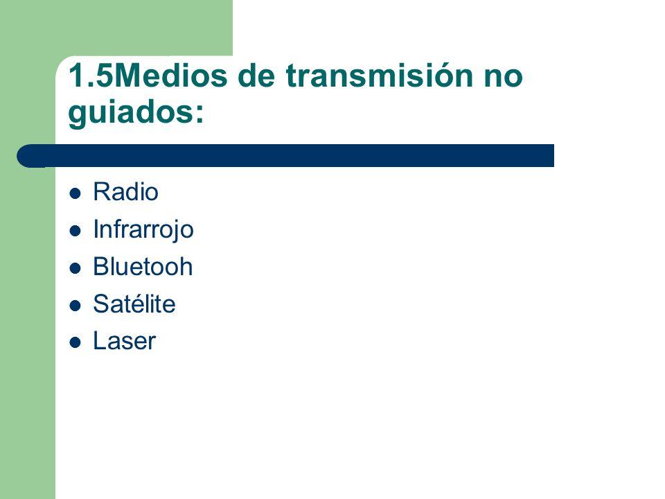 1.5Medios de transmisión no guiados: