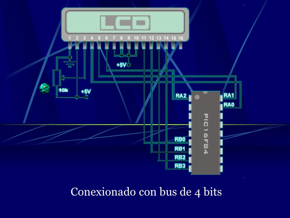 Conexionado con bus de 4 bits