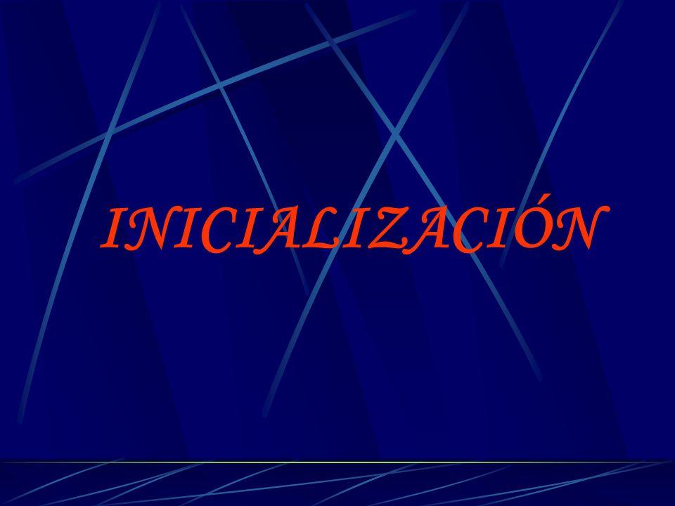 INICIALIZACIÓN