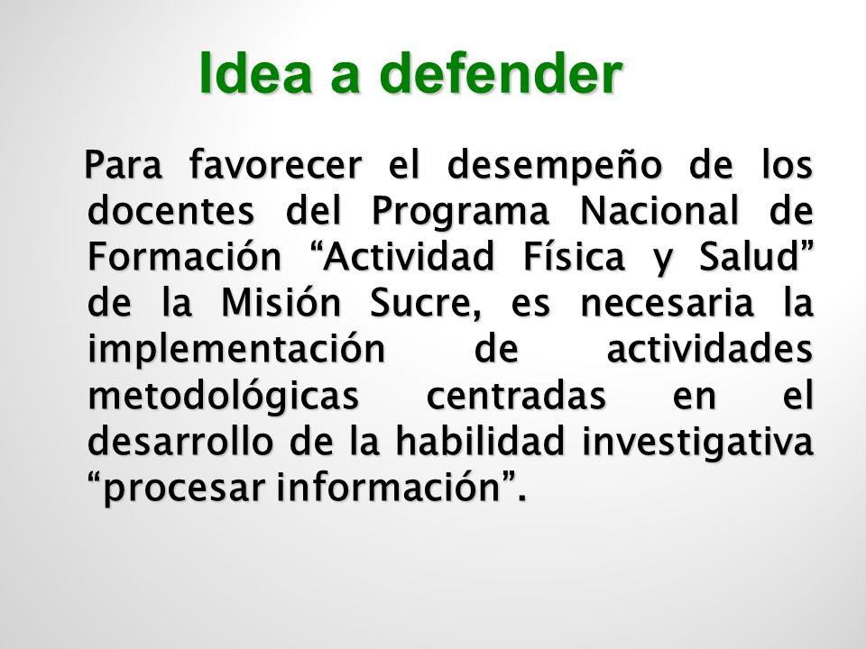 Idea a defender