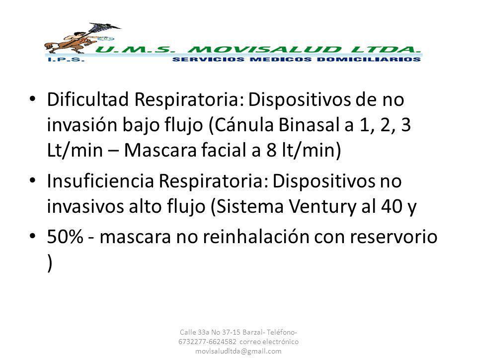 50% - mascara no reinhalación con reservorio )