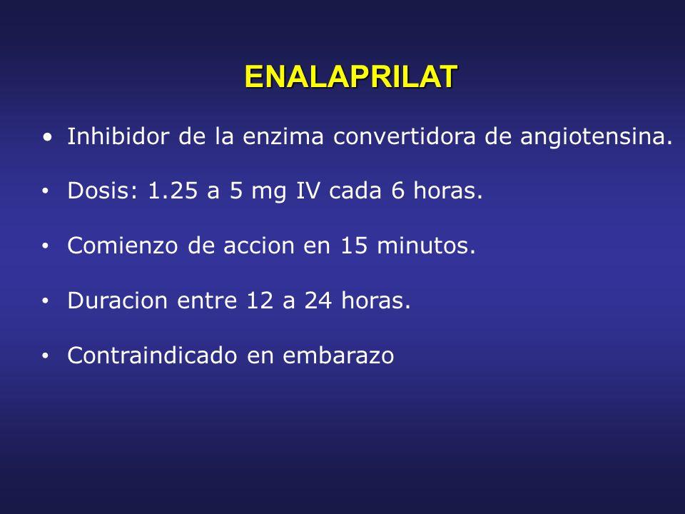 ENALAPRILAT Inhibidor de la enzima convertidora de angiotensina.