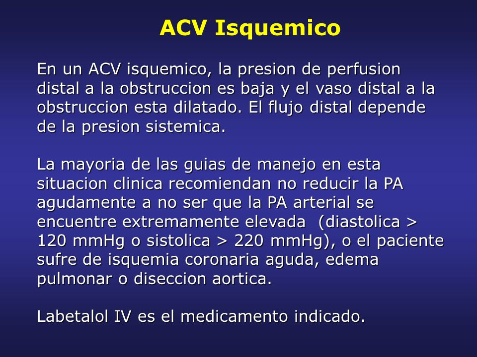 ACV Isquemico
