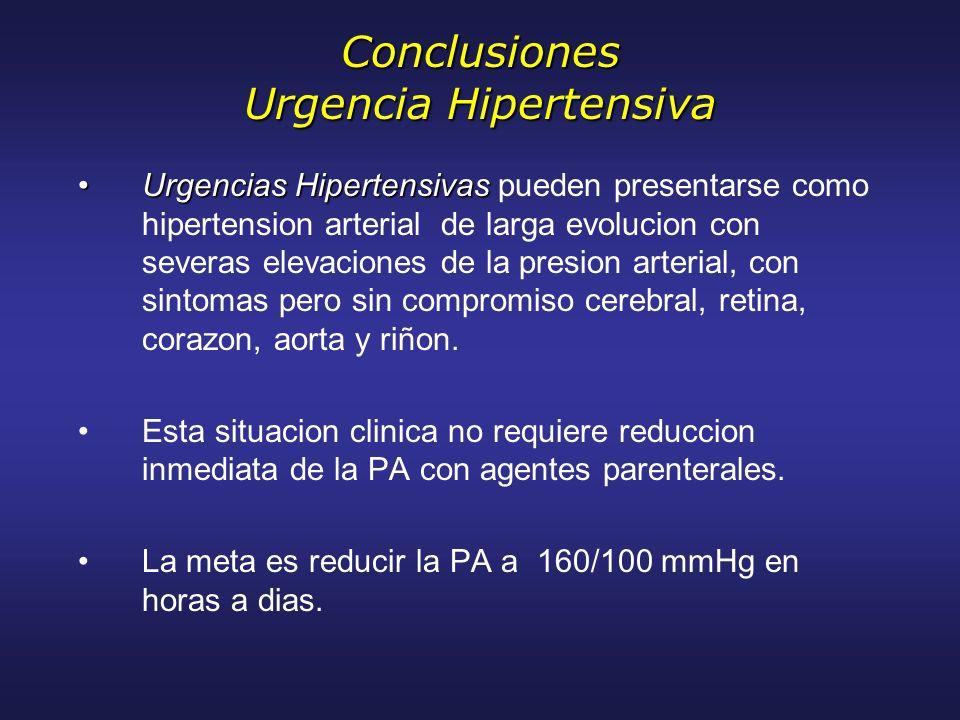 Conclusiones Urgencia Hipertensiva