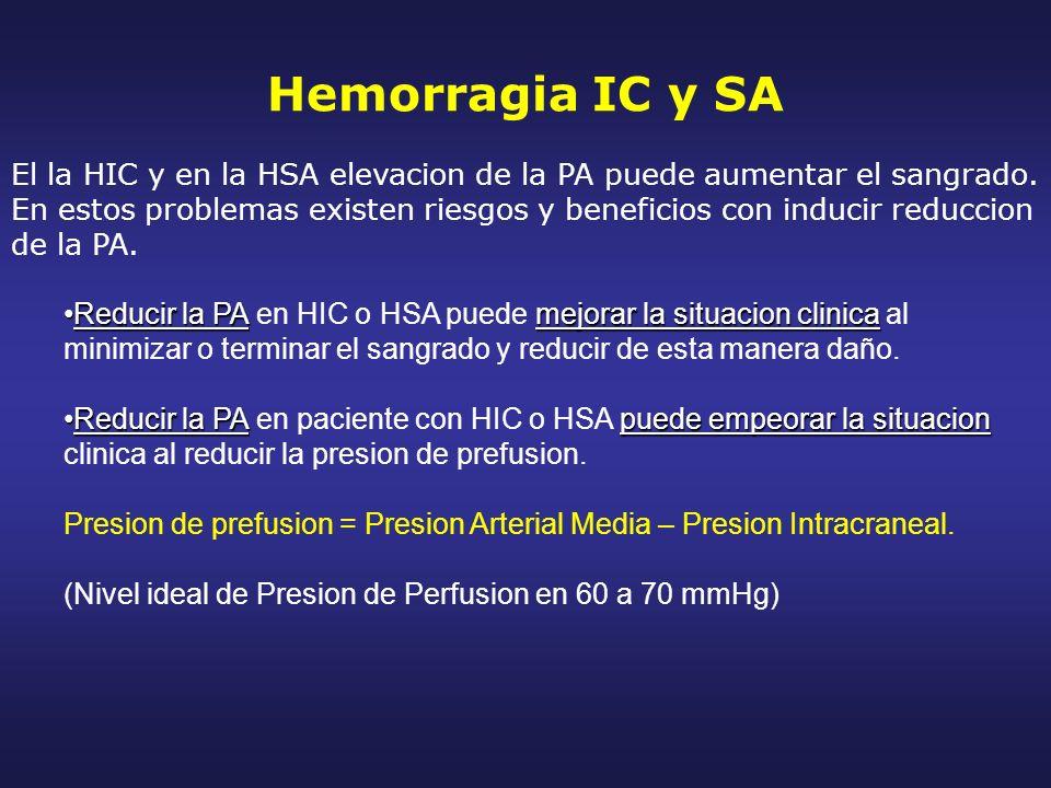 Hemorragia IC y SA