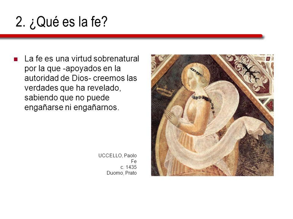 2. ¿Qué es la fe
