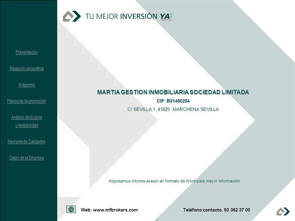 MARTIA GESTION INMOBILIARIA SOCIEDAD LIMITADA