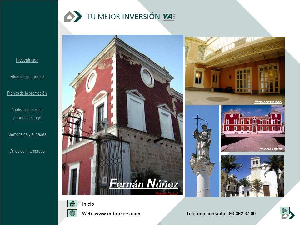 Fernán Núñez Presentación Situación geográfica Planos de la promoción