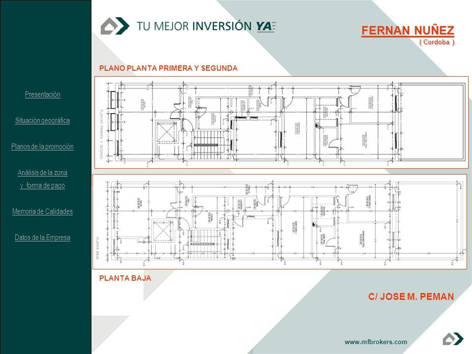 FERNAN NUÑEZ C/ JOSE M. PEMAN PLANO PLANTA PRIMERA Y SEGUNDA