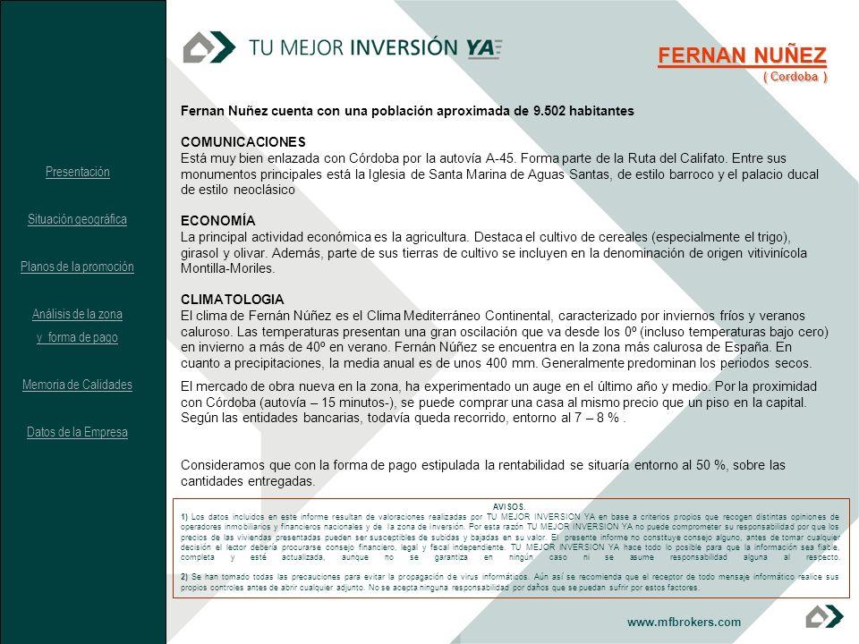 FERNAN NUÑEZ ( Cordoba ) Fernan Nuñez cuenta con una población aproximada de 9.502 habitantes. COMUNICACIONES.