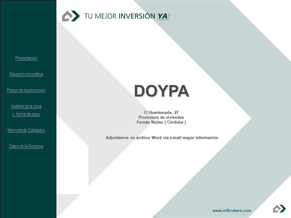 DOYPA Adjuntamos en archivo Word vía e-mail mayor información