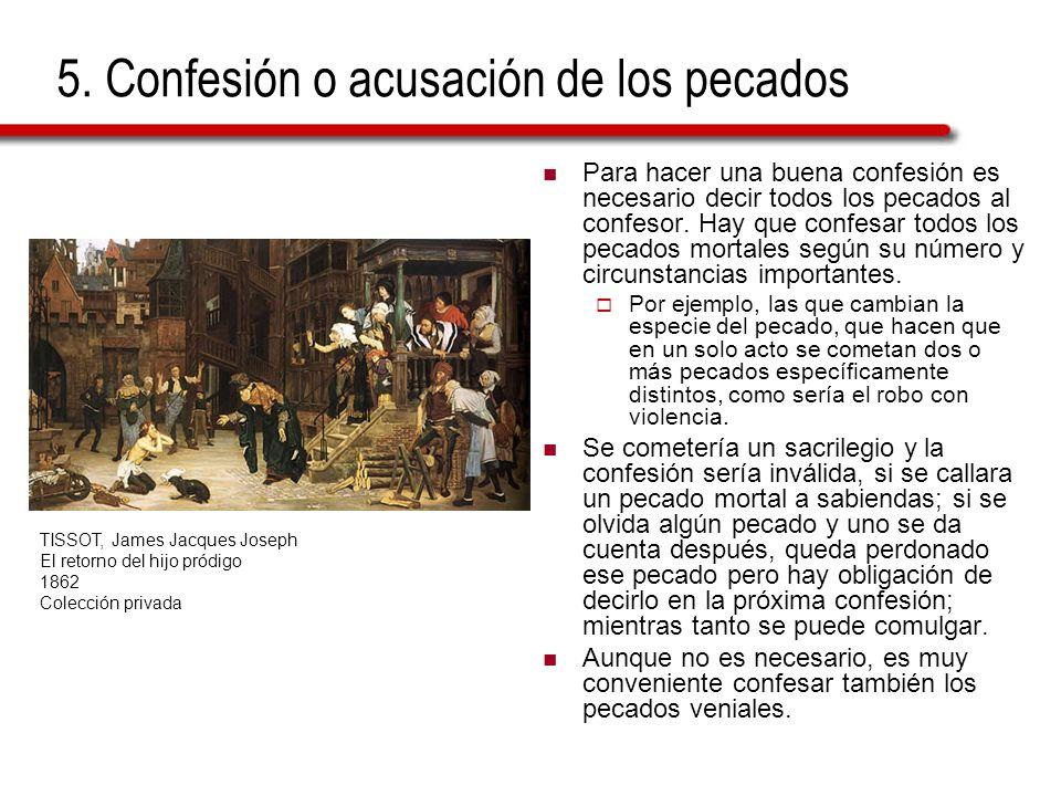 5. Confesión o acusación de los pecados