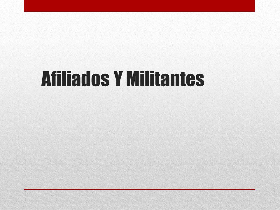 Afiliados Y Militantes