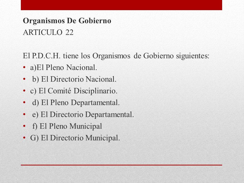 Organismos De Gobierno