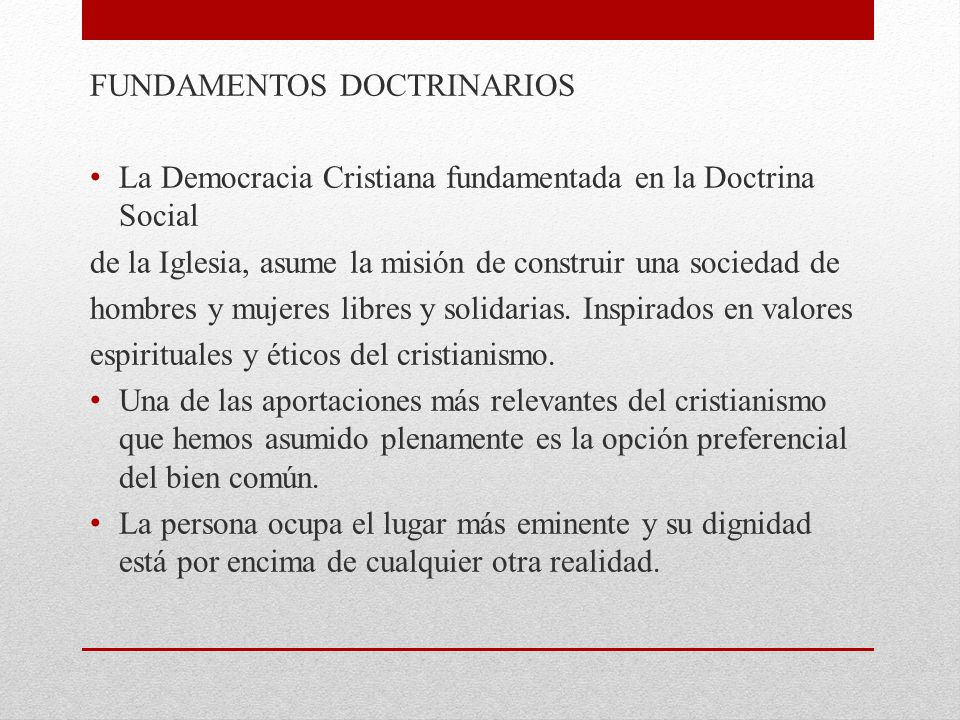 FUNDAMENTOS DOCTRINARIOS