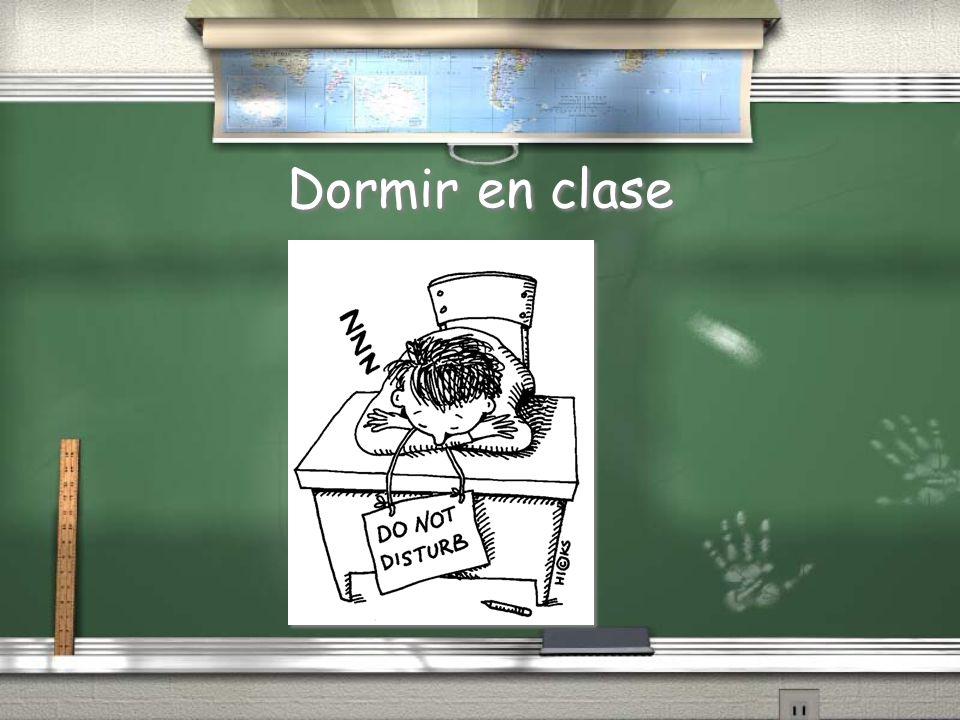 Dormir en clase