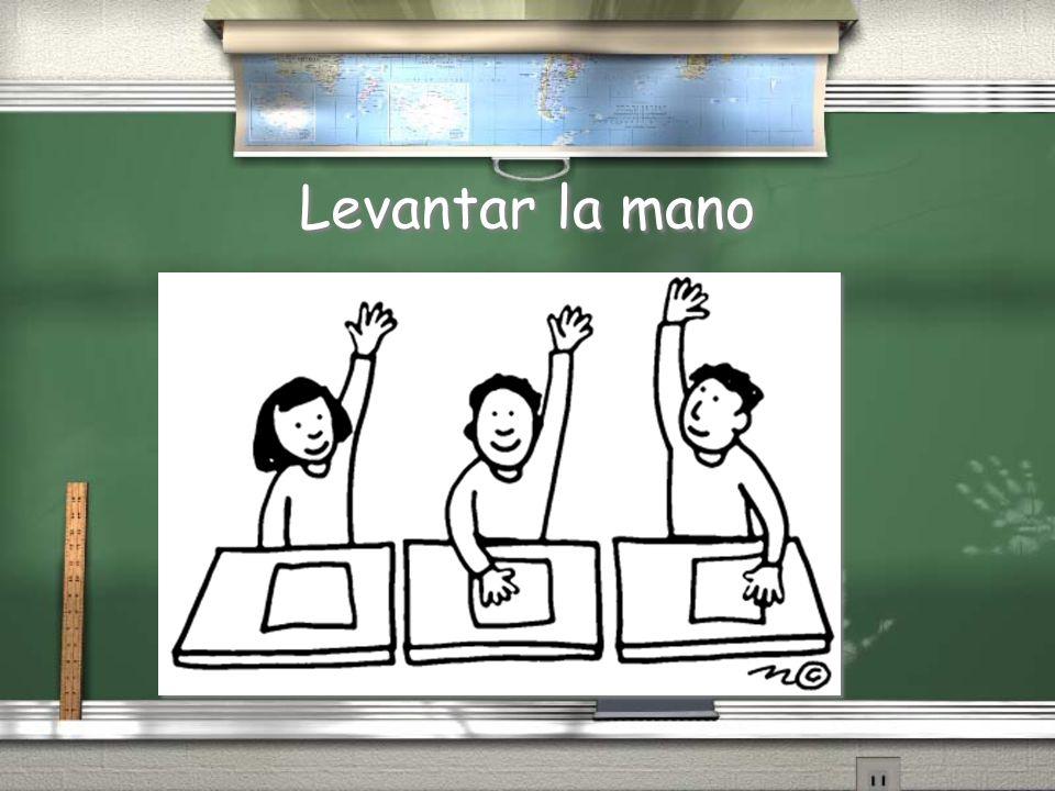 Levantar la mano