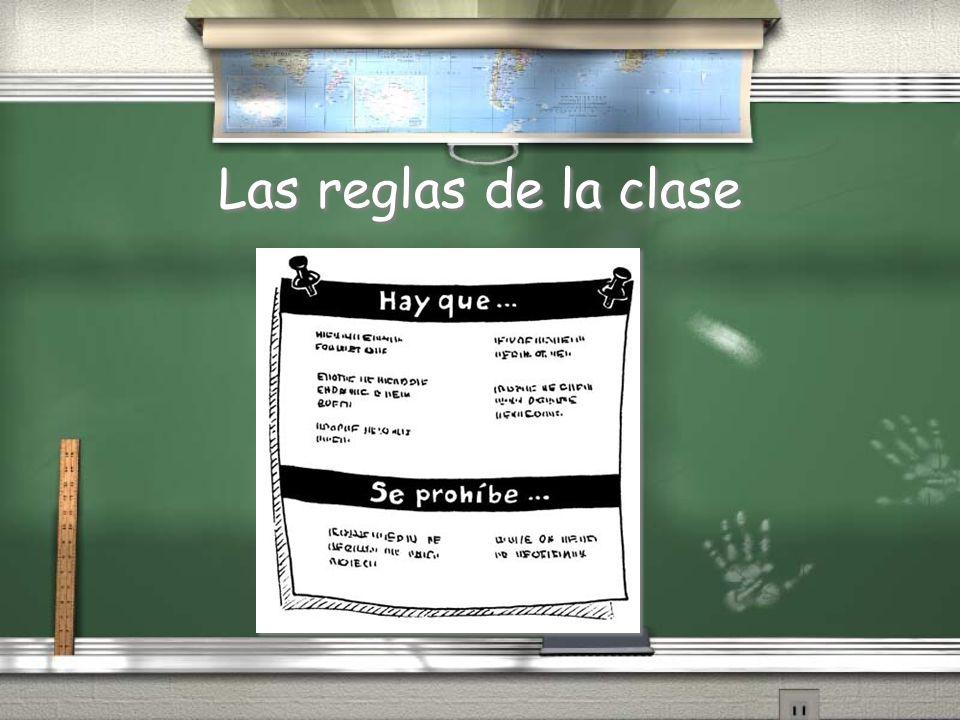 Las reglas de la clase