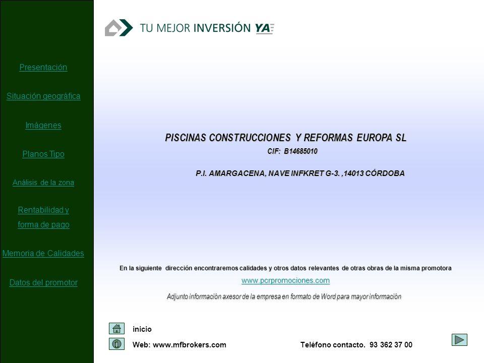 PISCINAS CONSTRUCCIONES Y REFORMAS EUROPA SL